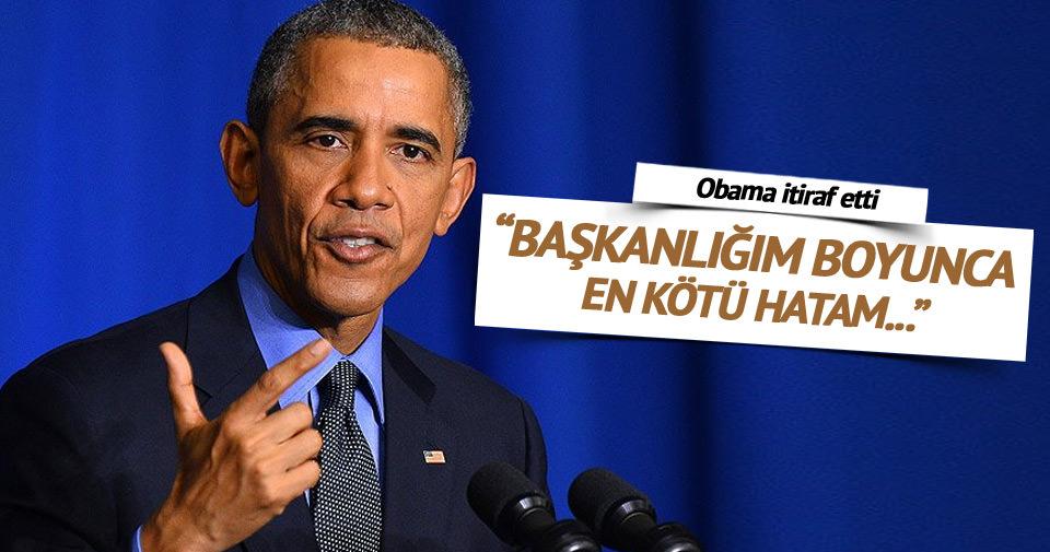 Obama: En kötü hatam...