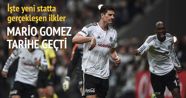 Beşiktaş'ın golcü oyuncusu Mario Gomez tarihe geçti!