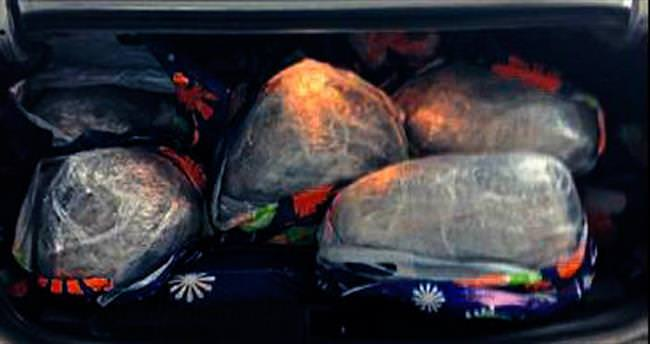 Otomobilde 51 kg esrar ele geçirildi