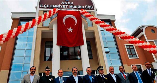 Aksu'ya yeni polis merkezi