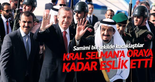Erdoğan Kral Selman'ı havalimanında karşıladı