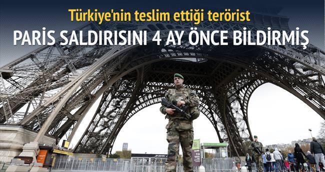 Türkiye'nin iade ettiği militan Fransa'yı uyarmış