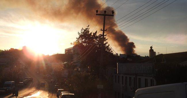 Urla Cezaevi'ndeki yangın