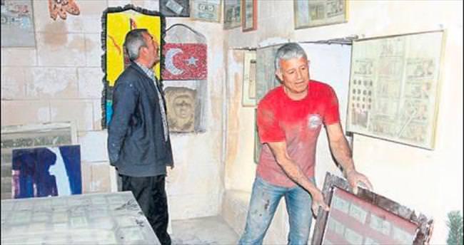 Para müzesi başına yıkıldı ama pes etmedi