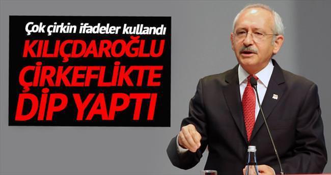 Kılıçdaroğlu çirkeflikte dip yaptı