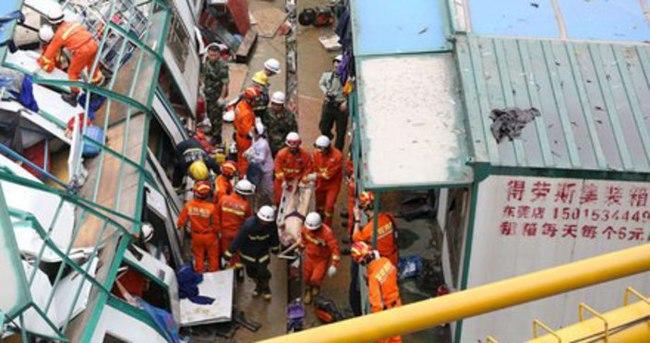 Çin'de vinç kazası: 12 ölü, 14 yaralı