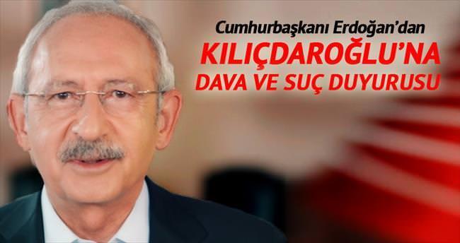 Kılıçdaroğlu'na dava ve suç duyurusu