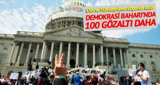 Demokrasi Baharı'nda 100 gözaltı daha