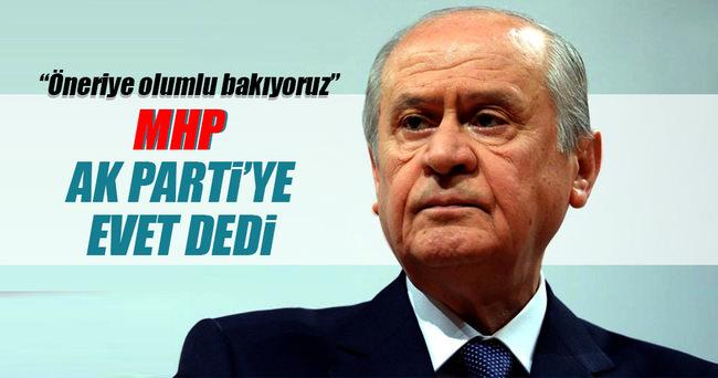 MHP'den AK Parti'ye evet