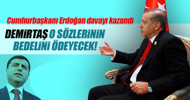 Cumhurbaşkanı Erdoğan Demirtaş'tan tazminat kazandı!