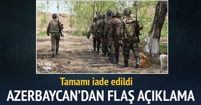 Azerbaycan: 18 Ermenistan askerinin cesedi iade edildi