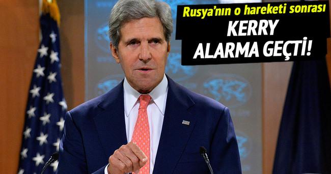 Rusya'nın tacizi sonrasında Kerry alarma geçti!