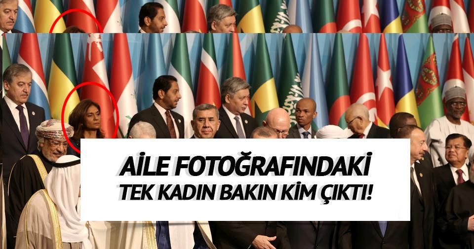 İslam İşbirliği Teşkilatı Aile fotoğrafındaki tek kadın bakın kim çıktı?