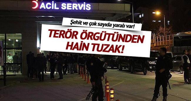 PKK'dan hain tuzak: 1 şehit, 13 yaralı