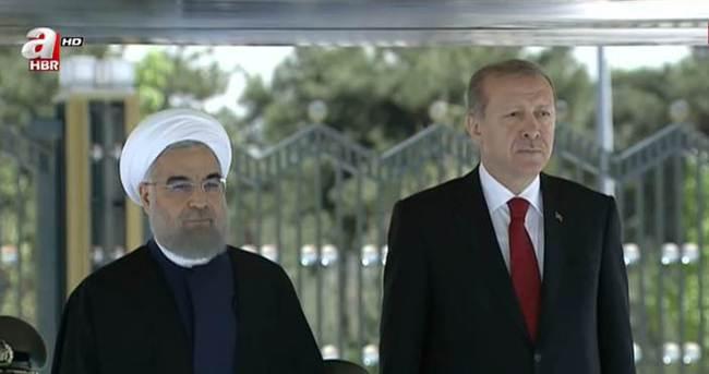 Cumhurbaşkanı Erdoğan, Ruhani'yi kabul etti