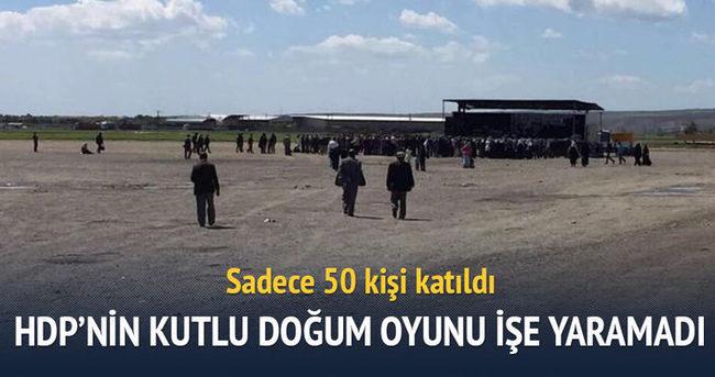 HDP'nin Kutlu Doğum oyunu tutmadı