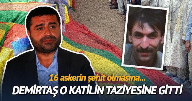 Demirtaş PKK'lı katilin taziyesine gitti