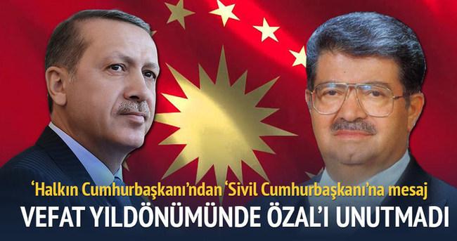 Cumhurbaşkanı Erdoğan'dan 'Özal' mesajı