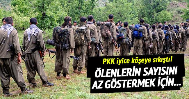 PKK öldürülen teröristlerin cesetlerini bahçeye gömüyor!