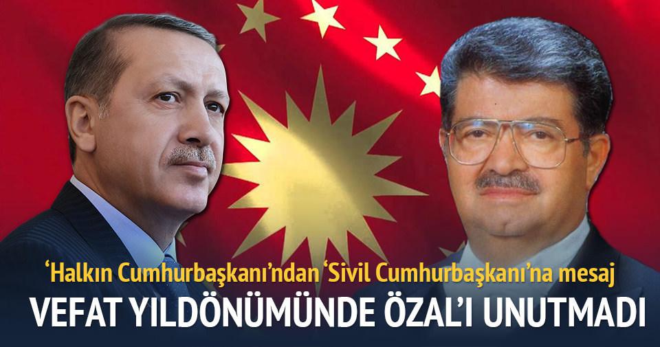 Cumhurbaşkanı Erdoğan, Özal milletimizin gönlünde müstesna bir yer edinmiştir