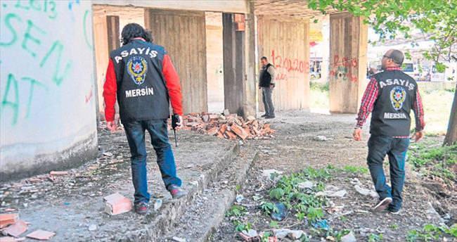 Mersin'de polis bağımlı avında