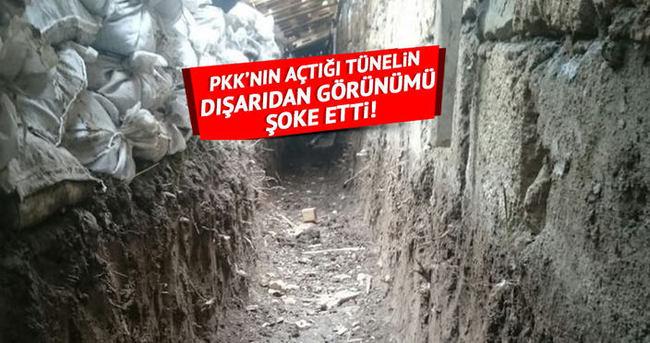 PKK açtığı tüneli böyle saklamış!