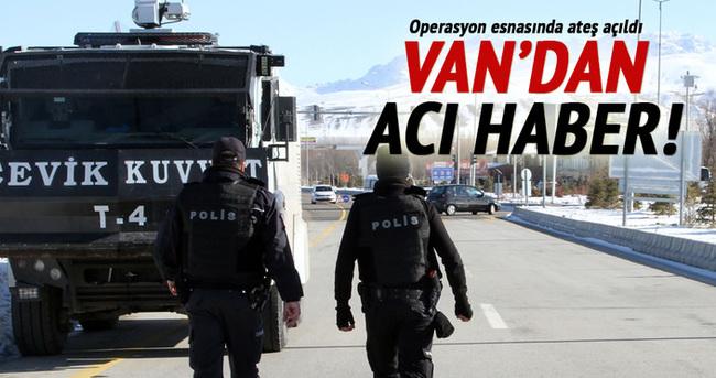 Van'dan acı haber: 1 polis şehit, 1 polis yaralı