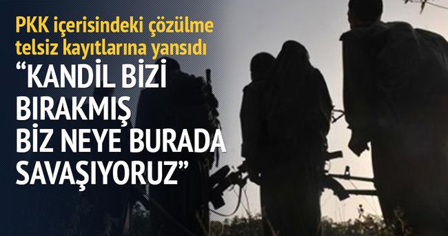 PKK içerisindeki çözülme telsiz kayıtlarına yansıdı