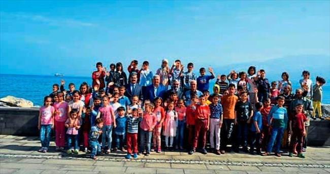 İskenderun Belediyesi yetimleri sevindirdi