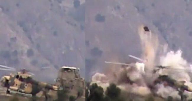 Taliban, Afganistan helikopterini havaya uçurdu!