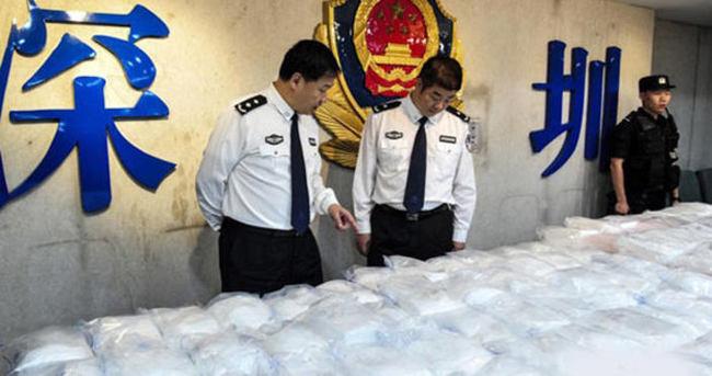 Çin'de 400 kilogram uyuşturucu yakalandı
