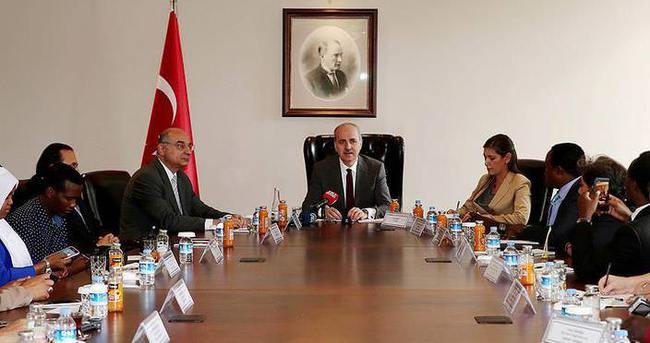 Başbakan Yardımcısı Kurtulmuş yabancı basın mensuplarını kabul etti