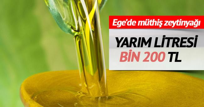 Yarım litrelik zeytinyağı bin 200 liraya satıldı