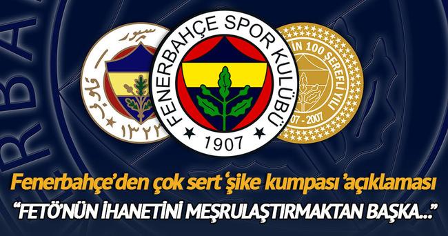 Fenerbahçe'den 3 Temmuz Kumpas operasyonu açıklaması