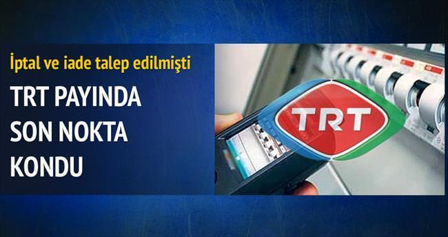 Elektrikte TRT payı iade edilmeyecek