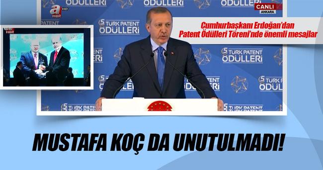 Cumhurbaşkanı Erdoğan patent ödülleri töreninde gündemi değerlendirdi