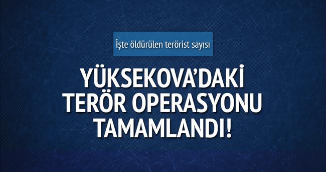 Yüksekova'daki terör operasyonu tamamlandı!