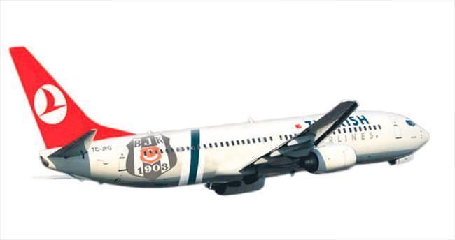 THY uçağına BJK logosu