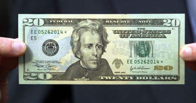 20 doların üzerine Tubman portresi