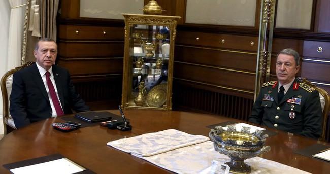 Cumhurbaşkanı Erdoğan, Genelkurmay Başkanı Orgeneral Akar'ı kabul etti