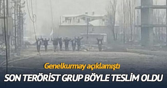 Yüksekova'da terörist bir grup teslim oldu