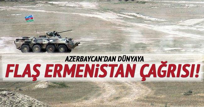 Azerbaycan'dan dünyaya 'Ermenistan' cağrısı