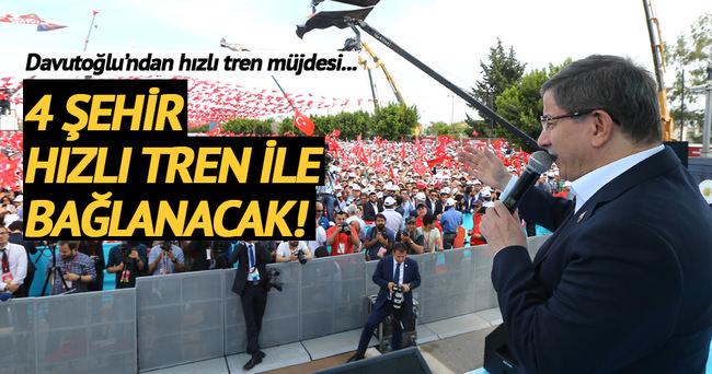 Başbakan Davutoğlu toplu açılış töreninde konuştu
