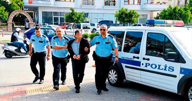 İki çocuk babasına tacizden tutuklama