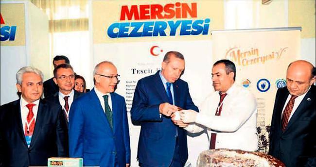 Cumhurbaşkanı Erdoğan Mersin Cezeryesi'ni tattı
