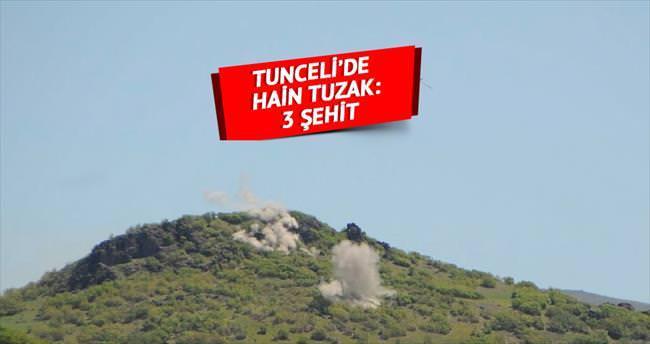 Tunceli'de hain tuzak: 3 şehit