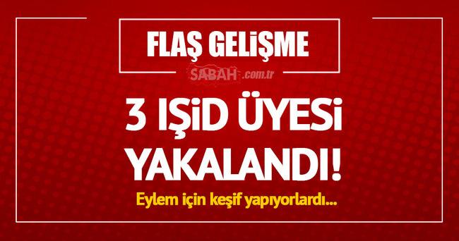 Konya'da 3 IŞİD üyesi yakalandı!