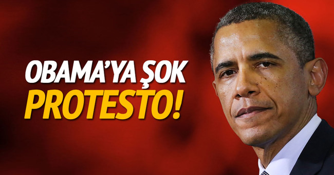 Obama'ya o ülkede şok protesto!