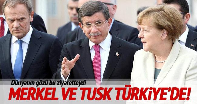 Merkel ve Tusk Türkiye'de!