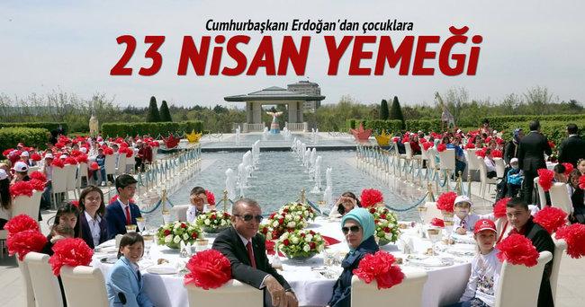 Erdoğan'dan çocuklara 23 Nisan yemeği